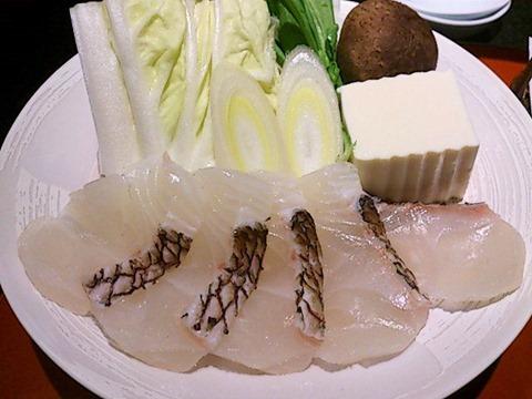 日本料理赤石鯛御膳の豆乳小鍋