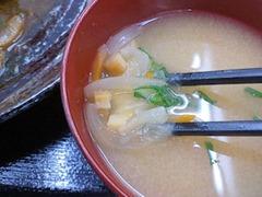 カフェごはんのーちゃん日替り定食の味噌汁