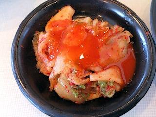 じゅうじゅうカルビヒレサイコロステーキランチのキムチ