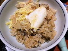 日本料理赤石鯛御膳の鯛釜飯