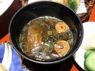 日本料理赤石鯛御膳の赤出汁
