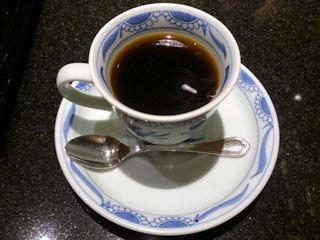 日本料理赤石食後のコーヒー