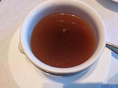 リヴィエール日替りランチのオニオンスープ