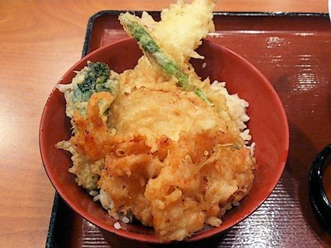 杵屋桜えびと春野菜の天丼定食