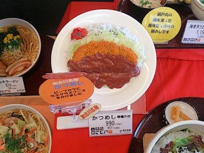 第二神明道路明石SA神戸食堂かつめし見本