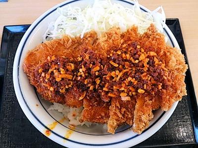 かつや東加古川店ラー油チキンカツ丼