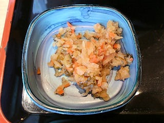 吉野家鰻丼並盛セットのお漬物