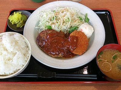 お食事処『IKI』ハンバーグ&黒毛和牛メンチカツ定食