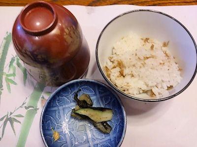 生州割烹輝髙水無月の御飯