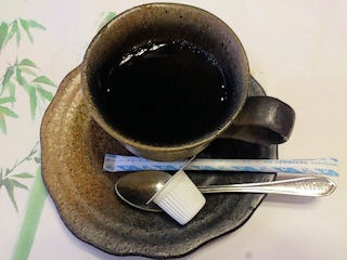 生州割烹輝髙食後のコーヒー