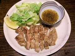 播州海鮮炉端碇いかり屋長崎山水豚の網焼き