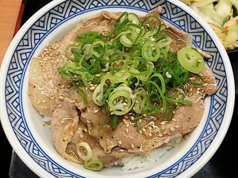 吉野家ねぎ塩ロース豚丼