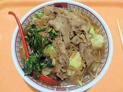 どうとんぼり神座牛焼肉と野菜のスタミナラーメン