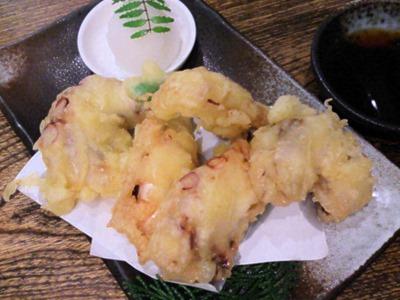 和風ダイニングまんまタコの天ぷら
