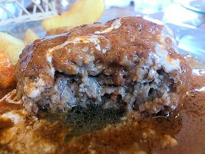 喫茶グリーンラバーズハンバーグステーキセット