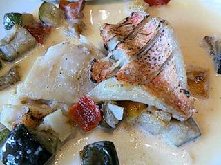リヴィエールえびす鯛のロースト醤油クリームソース