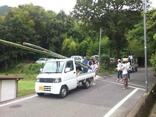 素麺流し大会2014竹取編