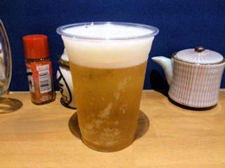 おでんと串かつ姫路のお店乾杯ビール