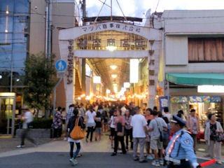 たかさご万灯祭2014銀座商店街入口