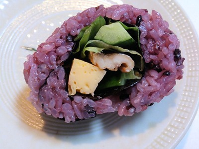 たかさご万灯祭高砂楽市黒酢の穴子巻き寿司