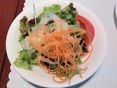 リヴィエール日替りランチのサラダ
