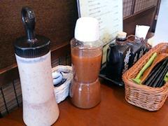 どんぶり ざえもんハンバーグ定食のサラダのドレッシング