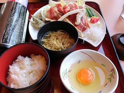 ながさわ加古川店松茸牛すき焼き定食