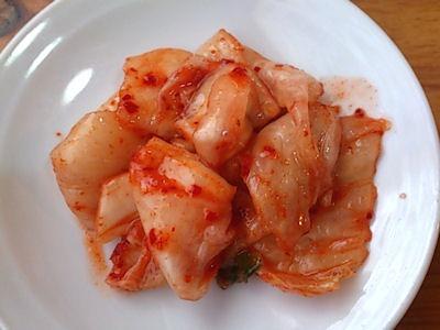 中華そばいせや食べ放題のキムチ