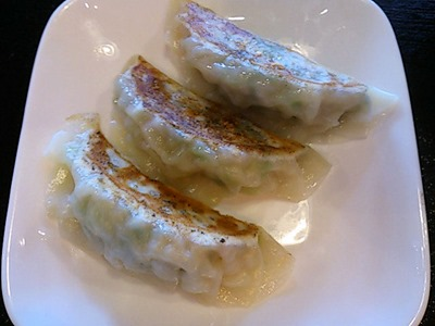 aji彩ラーメン平日ランチタイムの餃子3個