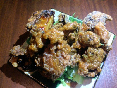 岩手切炭焼き鳥火の鶏とり唐のジューシー揚げコクうま生姜ソース