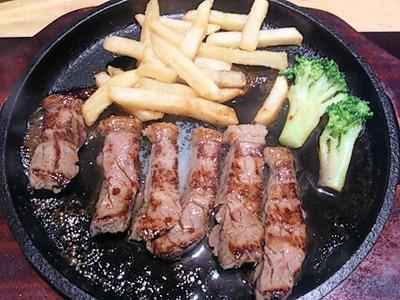 がんこ加古川店ステーキ定食