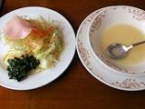 ステーキたじま家スペシャルランチのスープとサラダ