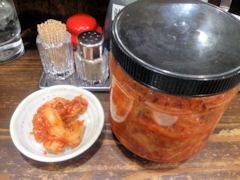 醤油中華そばいせや食べ放題のキムチ