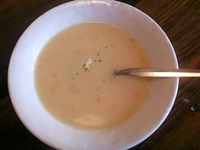 ステーキハウスジャンプスペシャルランチのスープ