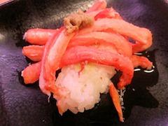 スシローかに祭り紅ずわい蟹てんこ盛り