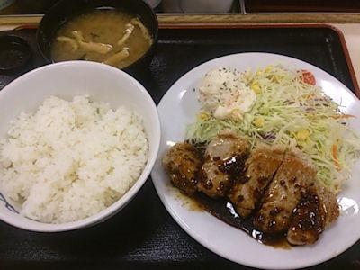 松屋豚テキ定食