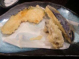 信州そば処そじ坊牡蠣と車海老の天ぷらそば野菜