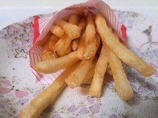 ロッテリア塩麹ロースカツバーガーセットのフライドポテト
