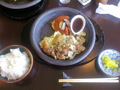 ステーキ藤久チキンステーキセット
