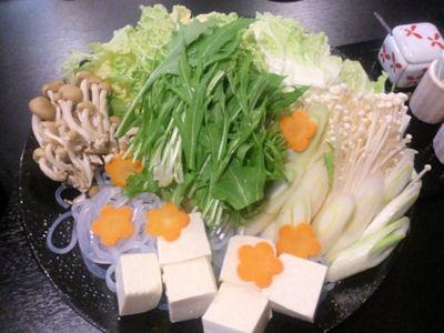旬彩料理綴りてっちりコースてっちりの野菜