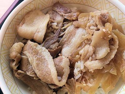 すき家復活した豚丼