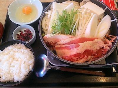 和食さと牛すきうどん鍋定食