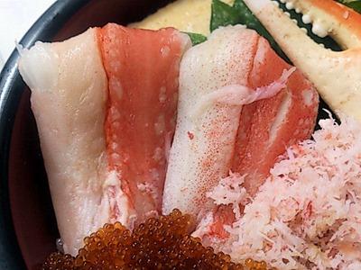 おたる巽鮨贅沢かに丼セット