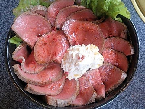 焼肉ビストロ168(いろは)ローストビーフ丼