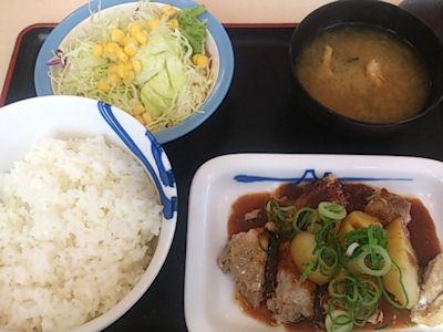 松屋チキンガーリック定食