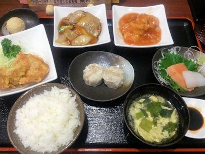 中華料理天津閣スペシャルランチ