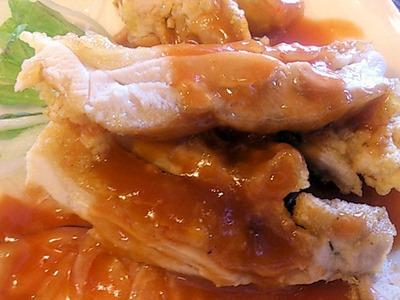 海鮮中華厨房張家日替りランチの鶏もも肉のチリソース