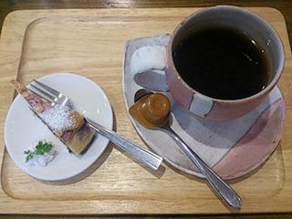 菓茶みきやブルーベリーチーズケーキと珈琲