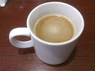 中華料理天津閣ドリンクバーのホットコーヒー