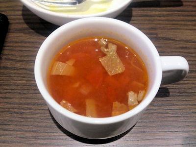 肉食酒場ランチのスープ